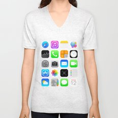 Phone Apps (Flat design) Unisex V-Neck