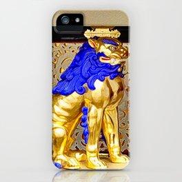 Gorudenraion, golden lion iPhone Case