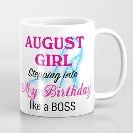 August Girl Birthday Coffee Mug