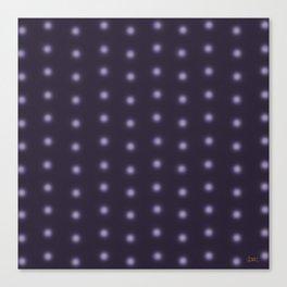 """Polka Dots Degraded & Purple shade of Grey"" Canvas Print"