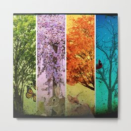 Four Seasons One Picture Metal Print