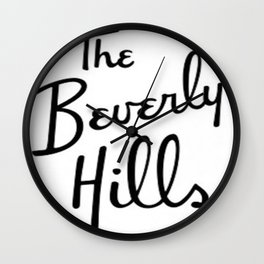 Beverly Hills Hotel  Wall Clock