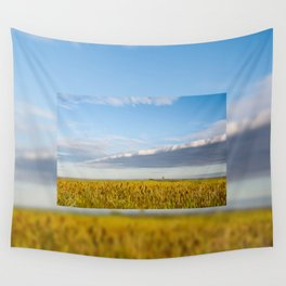 Morass grass in sun rising Wall Tapestry