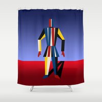 soldier Shower Curtains featuring TIN SOLDIER by THE USUAL DESIGNERS