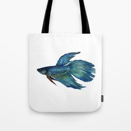 Mortimer the Betta Fish Tote Bag