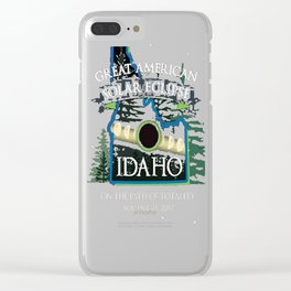 Idaho Path of Totality Solar Eclipse 2017 Souvenir T Shirt Clear iPhone Case