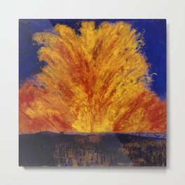 Fireworks portrait painting by James Ensor Metal Print