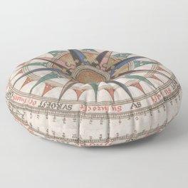 Historical Nautical Compass (1543) Floor Pillow