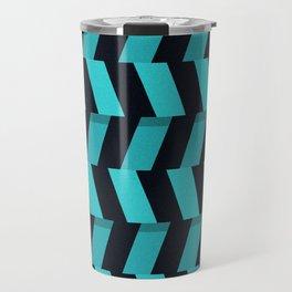 lines  barrage strips art creative illusion material design Travel Mug