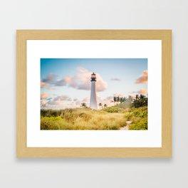 Cape Florida  Lighthouse in Key Biscayne Framed Art Print