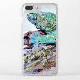 New Caledonia Lizard Art Deco Style Clear iPhone Case