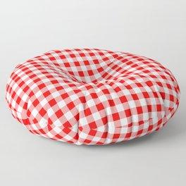 Australian Flag Red and White Jackaroo Gingham Check Floor Pillow
