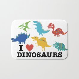 I love dinosaurs Bath Mat