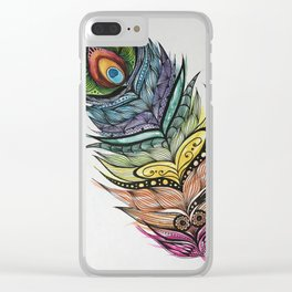 Feather Design Clear iPhone Case
