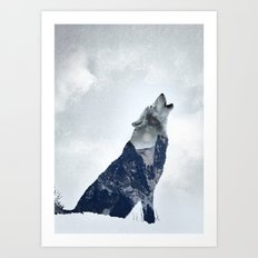 Wolf. Into the Wilderness Art Print