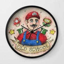 Old School Mario Tattoo Wall Clock
