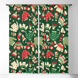 Ugly Christmas Fashion red green white Blackout Curtain