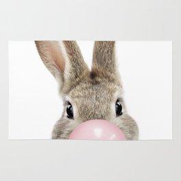 Bubble Gum Bunny Rug