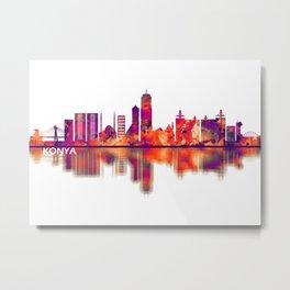 Konya Turkey Skyline Metal Print
