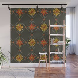 harlequin floral Wall Mural