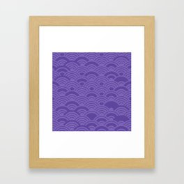 Ultra Violet Color of the Year 2018 Seigaiha seigainami wave of the sea abstract scales Framed Art Print
