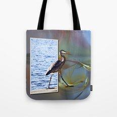 Blue Heron Strutting Out Of Frame Tote Bag
