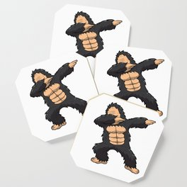 Dabbing Gorilla Shirt Ape Monkey Big Foot Dab Kids Coaster