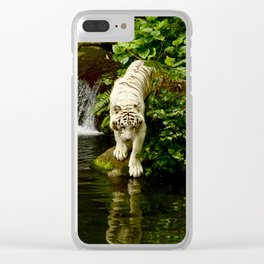 Tiger Reflection Clear iPhone Case