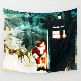 Keep Watching The Tardis Light Wall Tapestry