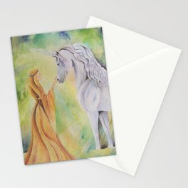 Maiden and Unicorn Stationery Cards