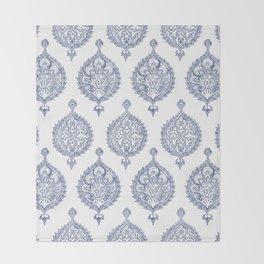 Endana Medallion Print in Periwinkle Throw Blanket