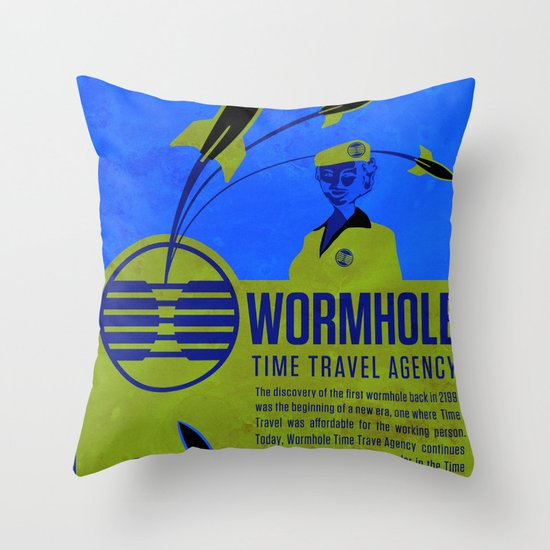 Time Travel Agency Throw Pillow