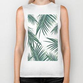 Green Palm Leaves Dream #2 #tropical #decor #art #society6 Biker Tank