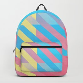 Genderflux Pride Diagonally Striped Checkered Squares Backpack