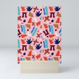 Coral Seagrove Terrazzo Pattern Mini Art Print