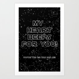 Star Crossed lovers 2 Art Print