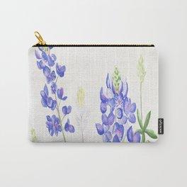 Bluebonnet Watercolor Carry-All Pouch