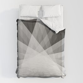 A Receptive Mind is Connected BLK/WHT Duvet Cover