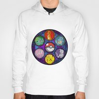 stained glass Hoodies featuring Stained Glass by Mazuki Arts