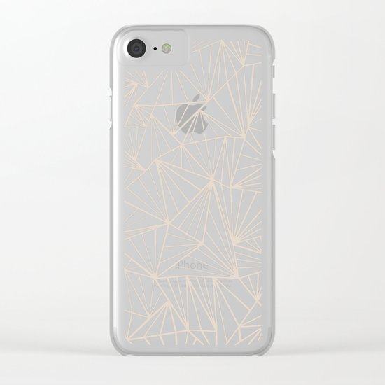 Ab Fan Grey And Nude Clear iPhone Case
