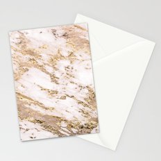 Golden smudge - blush marble Stationery Cards