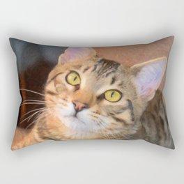 Cute Bengal Kitty Rectangular Pillow