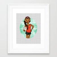 volleyball Framed Art Prints featuring Volleyball Girl by Lunar Fox