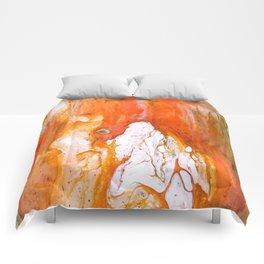 Acrylic  Orange Swipe Test Pour Comforters