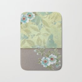 Brown paper flowers Bath Mat
