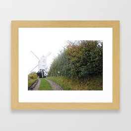 Jack and Jill Windmill at the end of the lain Framed Art Print