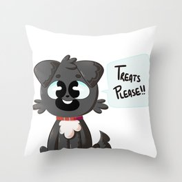 Treats Please!! Throw Pillow