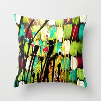 ruben Throw Pillows featuring Ruben by Del Otero Art