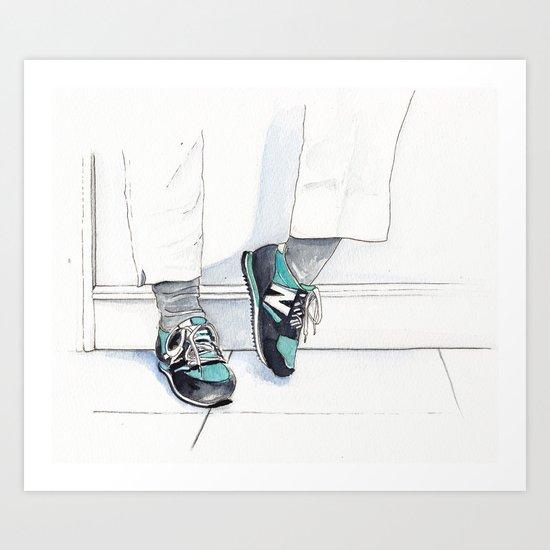 New Balance Shoes  Art Print