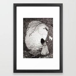 Wendy in Neverland Framed Art Print